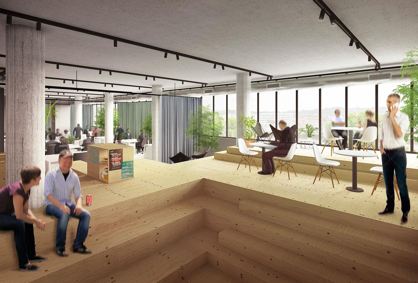 Dise o de oficinas en un edificio industrial garmendia for Diseno oficinas industriales
