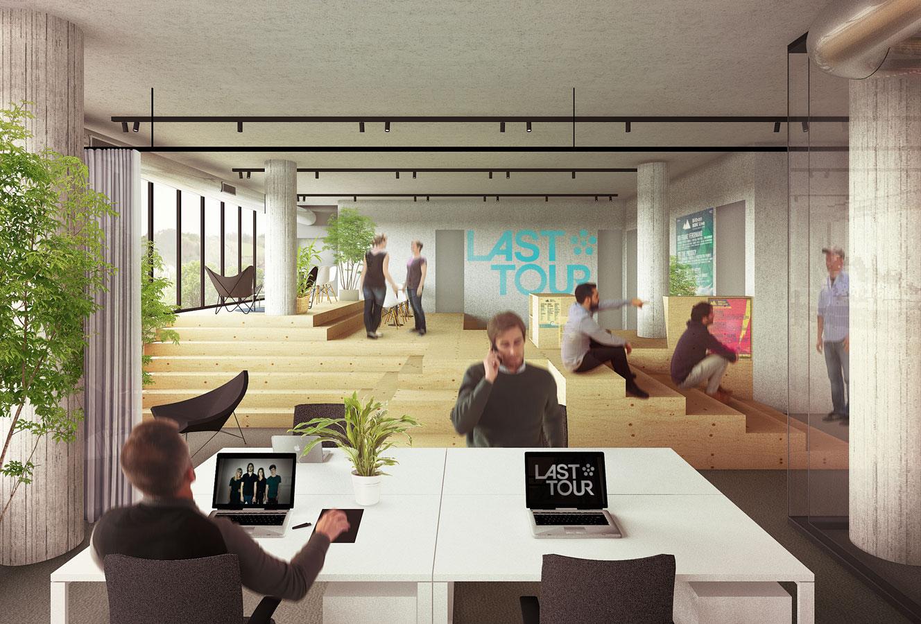 Dise o de oficinas en un edificio industrial garmendia for Oficina de extranjeria bilbao
