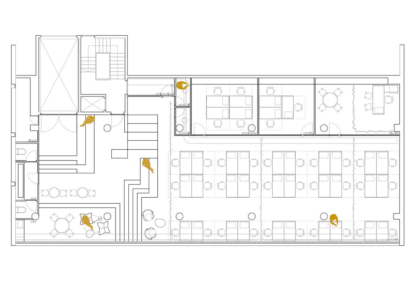 Dise o de oficinas en un edificio industrial garmendia for Bbk bank cajasur oficinas